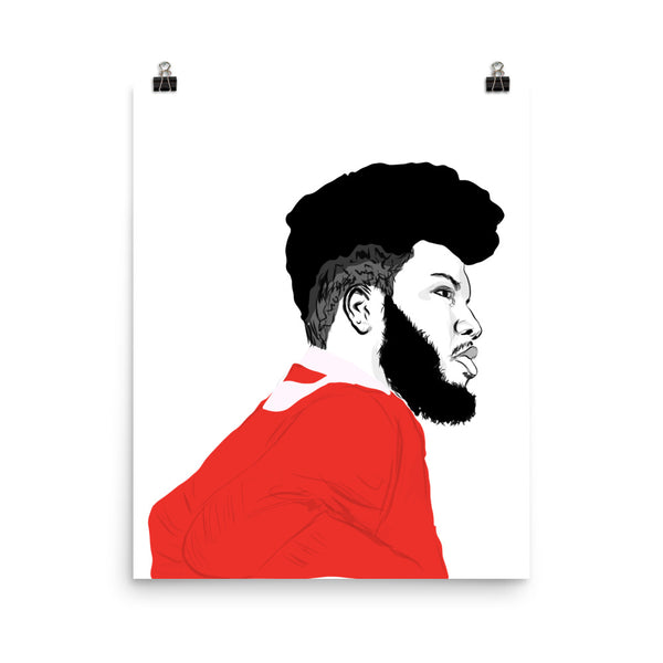 Khalid Art Poster (6 sizes) // Babes & Gents // www.babesngents.com