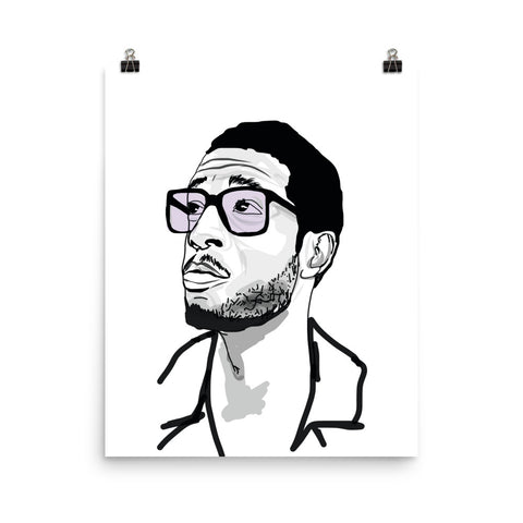 Kid Cudi 2 Art Poster (8x10 to 24x36)
