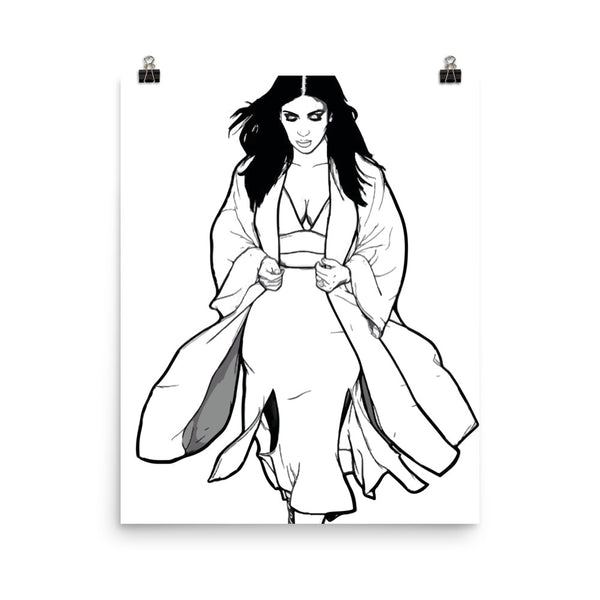Kim Kardashian 2 Art Poster (6 sizes) // Babes & Gents // www.babesngents.com