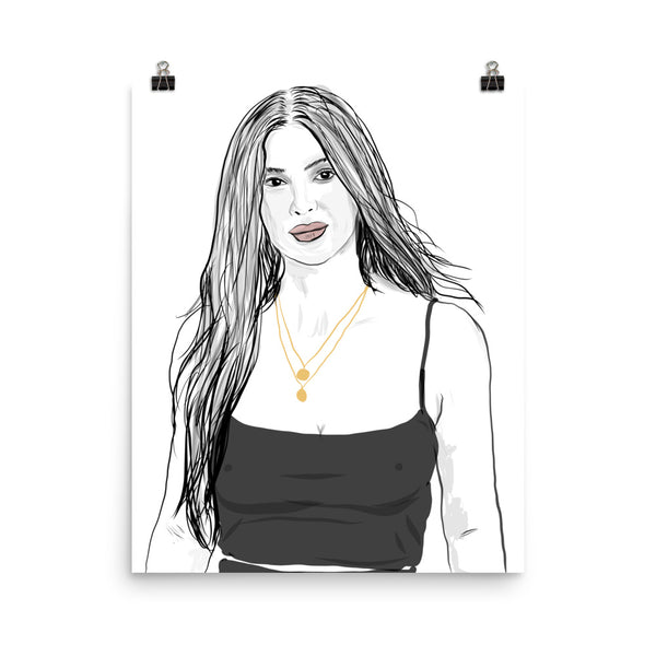 Kim Kardashian Art Poster (6 sizes) // Babes & Gents // www.babesngents.com