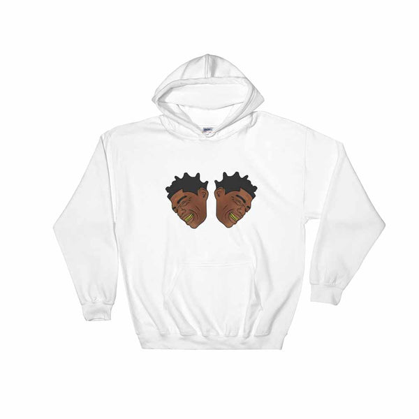Kodak Black 2 Heads White Hoodie Sweater (Unisex) , Babes & Gents, Ottawa