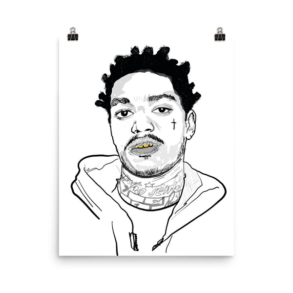 Kodak Black 2 Art Poster (6 sizes) // Babes & Gents // www.babesngents.com