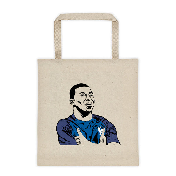 Kylian Mbappé Canvas Tote Bag, Babes & Gents, www.babesngents.com