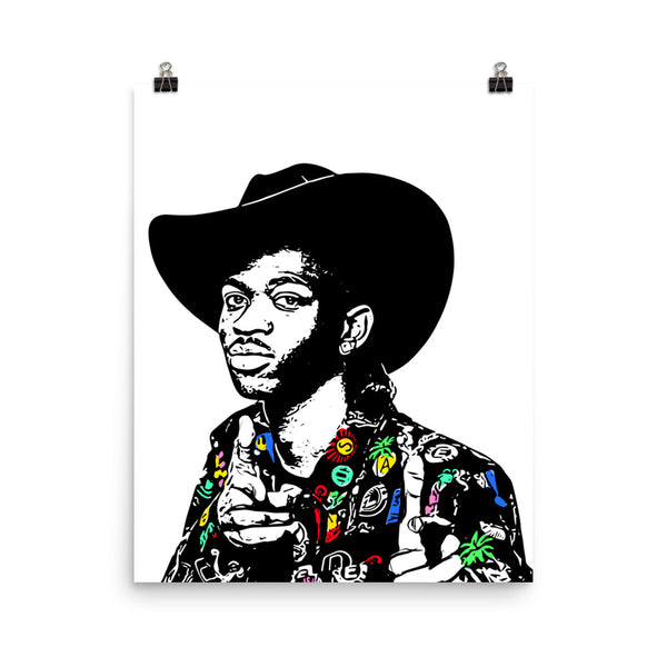 Lil Nas X 11x17 Art Poster, Babes & Gents, www.babesngents.com