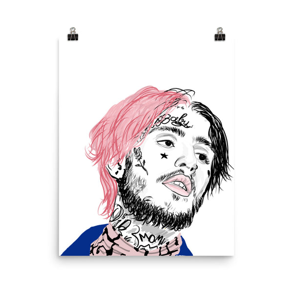 Lil Peep Art Poster (6 sizes) // Babes & Gents // www.babesngents.com