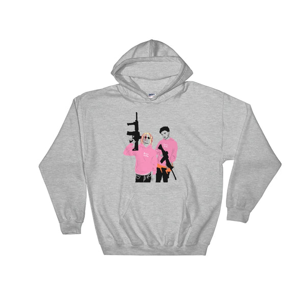 Lil Pump + Smokepurpp Grey Hoodie Sweater (Unisex), Babes & Gents, Ottawa