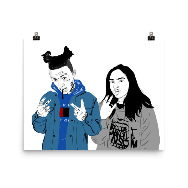 Lil Skies and Landon Cube Art Poster (6 sizes) // Babes & Gents // www.babesngents.com