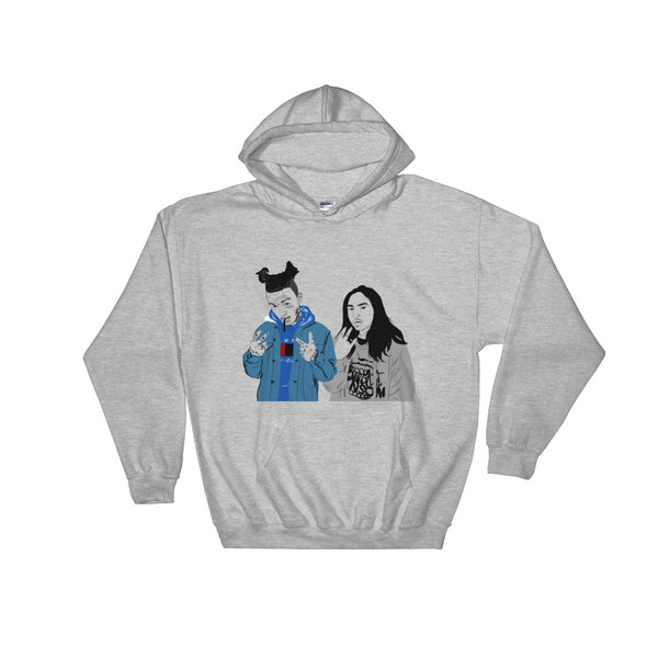 Lil Skies and Landon Cube Grey Hoodie Sweater (Unisex), Babes & Gents, Ottawa