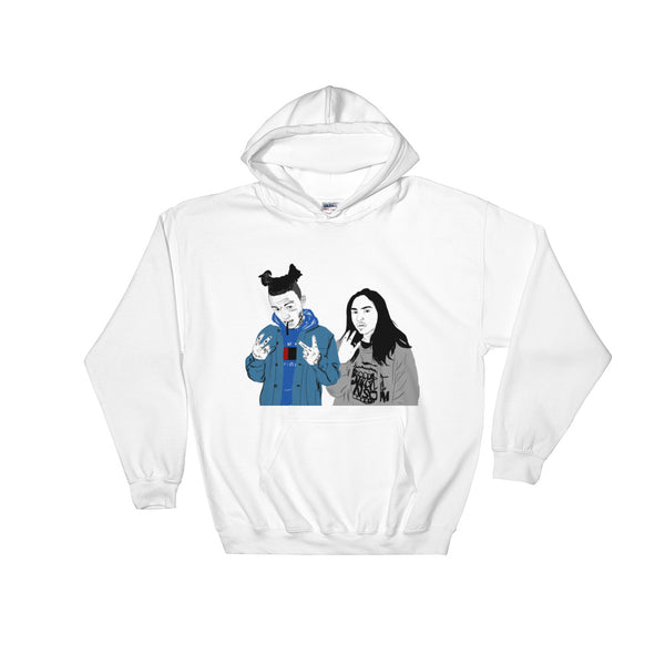 Lil Skies and Landon Cube White Hoodie Sweater (Unisex), Babes & Gents, Ottawa