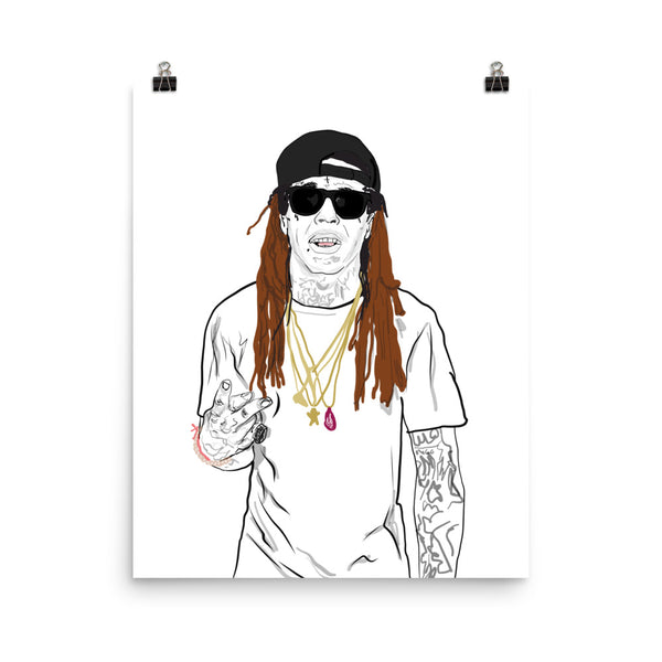 Lil Wayne Tunchi Art Poster (6 sizes) // Babes & Gents // www.babesngents.com