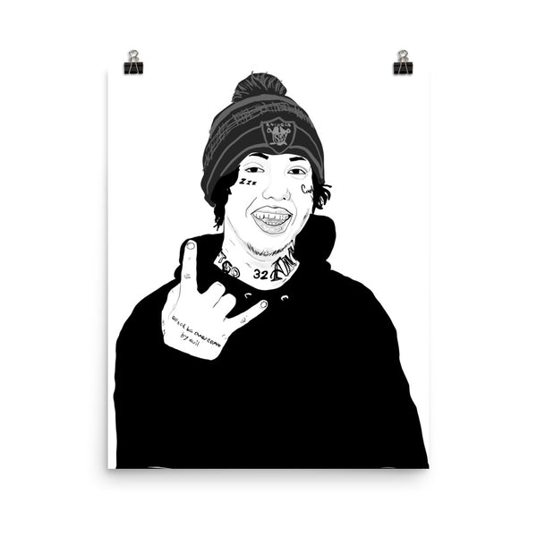 Lil Xan Diego Art Poster (6 sizes) // Babes & Gents // www.babesngents.com