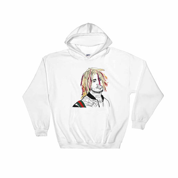 Lil Pump White Hoodie Sweater (Unisex) , Babes & Gents, Ottawa