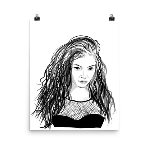 Lorde Art Poster (8x10 to 24x36)