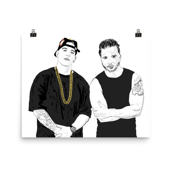 Luis Fonsi and Daddy Yankee Despacito Art Poster (6 sizes) // Babes & Gents // www.babesngents.com