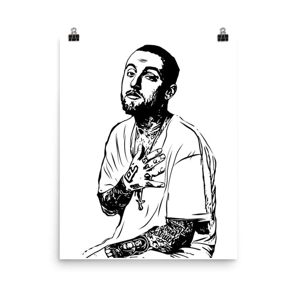 Mac Miller 2 Art Poster (8x10 to 24x36) // Babes & Gents // www.babesngents.com