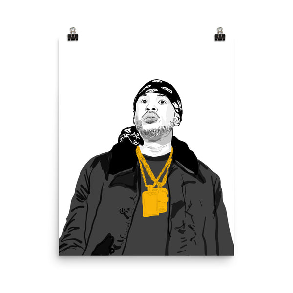 Meek Mill Art Poster (6 sizes) // Babes & Gents // www.babesngents.com