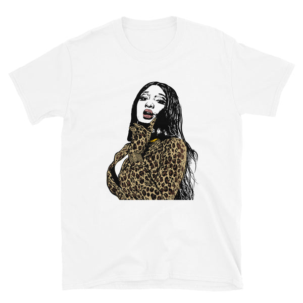 Megan Thee Stallion White Tee (Unisex) // T-shirt // Babes & Gents // www.babesngents.com