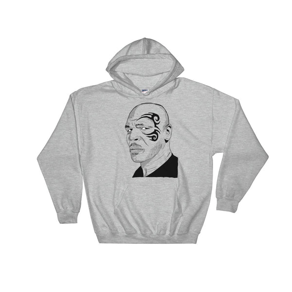 Mike Tyson Grey Hoodie Sweater (Unisex), Babes & Gents, Ottawa