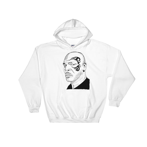 Mike Tyson White Hoodie Sweater (Unisex), Babes & Gents, Ottawa