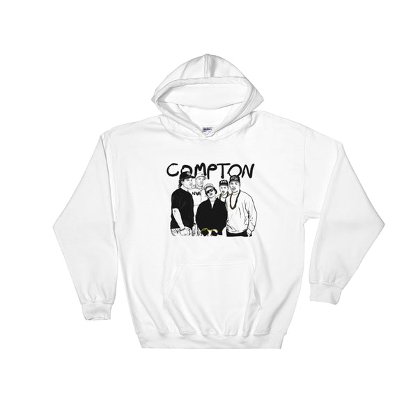 NWA Compton Eazy-E Ice Cube Dr Dre White Hoodie Sweater (Unisex), Babes & Gents, Ottawa