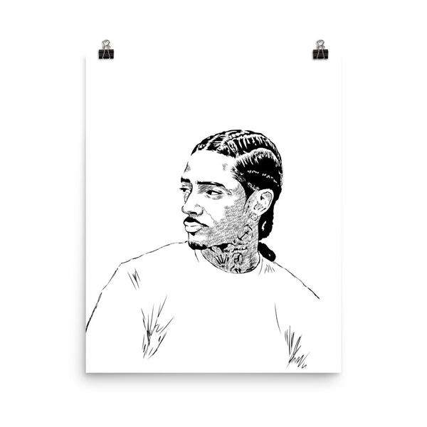 Nipsey Hussle Art Poster (6 sizes) // Babes & Gents // www.babesngents.com