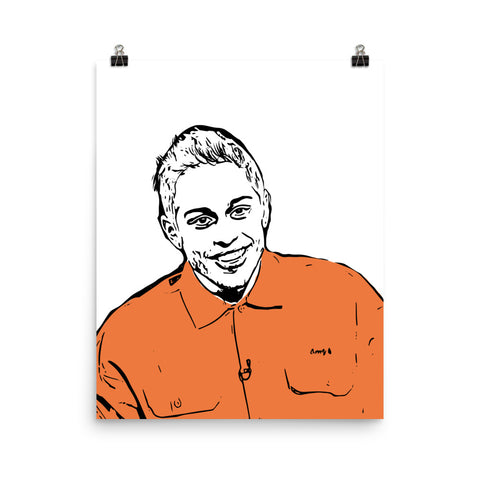 Pete Davidson Art Poster (8x10 to 24x36)