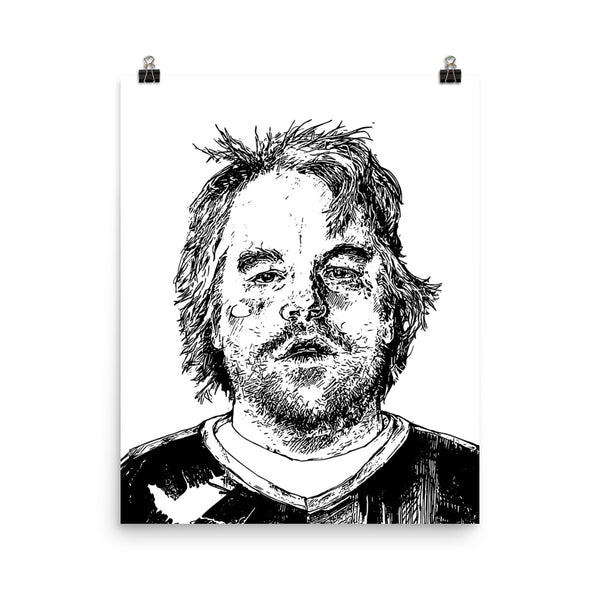 Philip Seymour Hoffman Art Poster (8x10 to 24x36) // Babes & Gents // www.babesngents.com