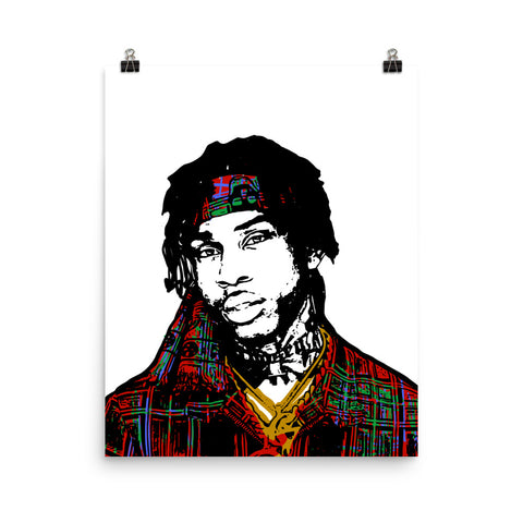 Polo G Art Poster (8x10 to 24x36)