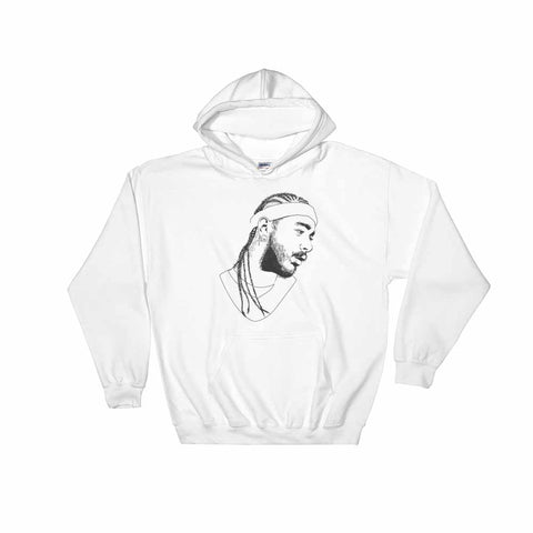 Post Malone White Hoodie Sweater (Unisex)