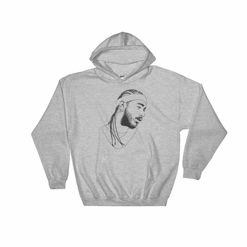 Post Malone Grey Hoodie Sweater (Unisex)