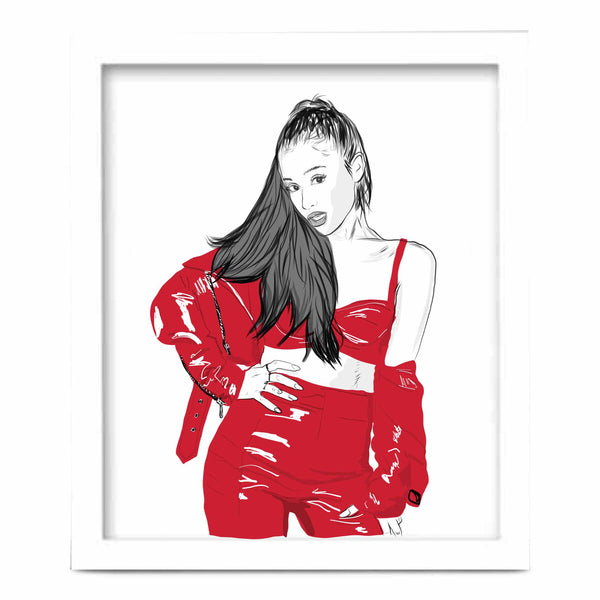 Ariana Grande Art Poster (6 sizes) // Babes & Gents // www.babesngents.com