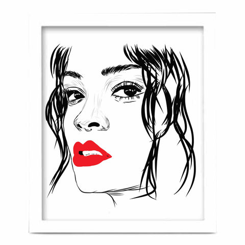 Rihanna Red Lips Art Poster (8x10 to 24x36)