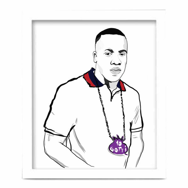 Yo Gotti Art Poster (6 sizes) // Babes & Gents // www.babesngents.com