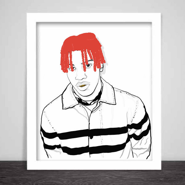 Lil Yachty Art Poster (6 sizes) // Babes & Gents // www.babesngents.com