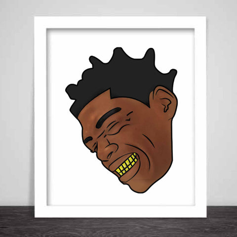 Kodak Black Color Art Poster (8x10 to 24x36)