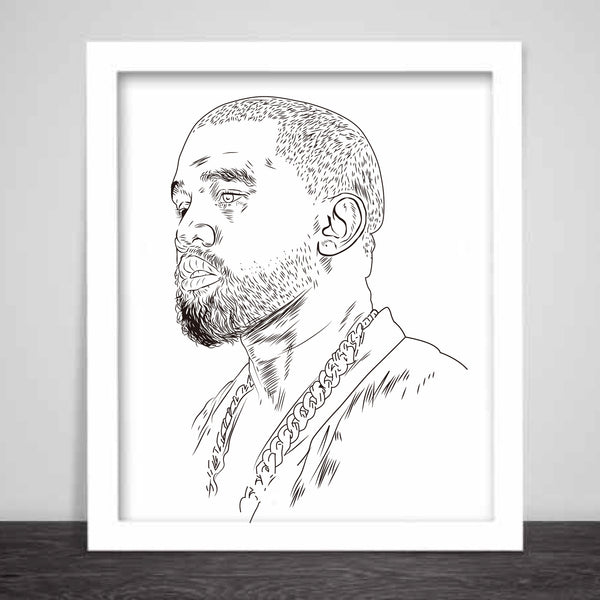 Kanye West Yeezus Art Poster (6 sizes) // Yeezy Tour // Babes & Gents // www.babesngents.com