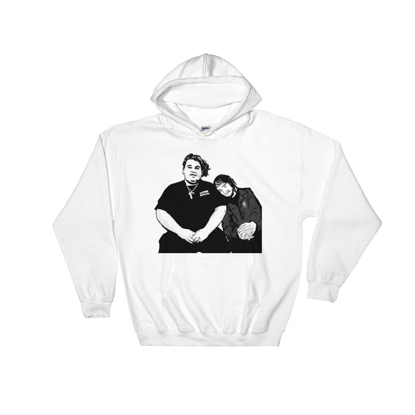 Pouya Fat Nick White Hoodie Sweater (Unisex), Babes & Gents, Ottawa