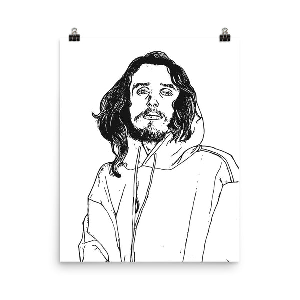 Pouya 11x17 Art Poster, Babes & Gents, www.babesngents.com
