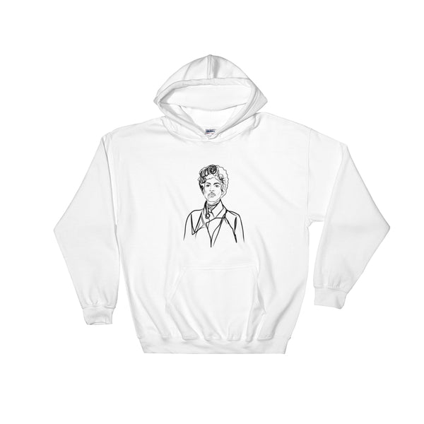 Prince Purple Rain White Hoodie Sweater (Unisex), Babes & Gents, Ottawa