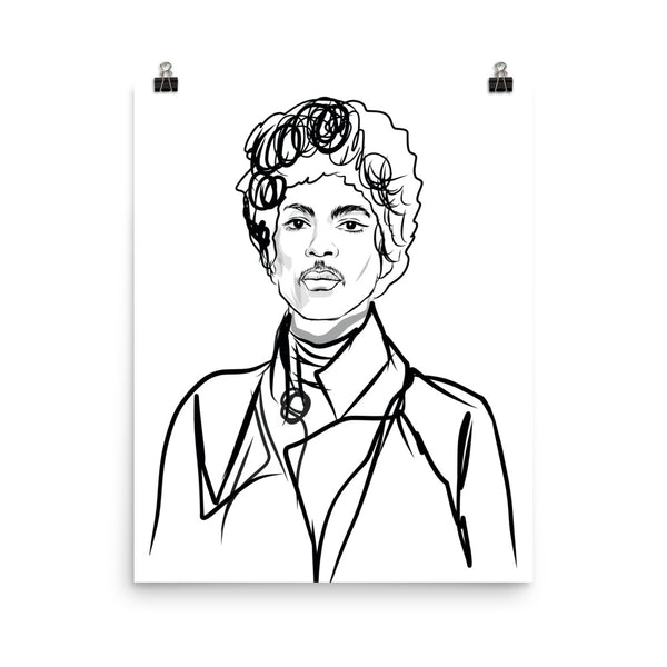 Prince Purple Rain Art Poster (6 sizes) // Babes & Gents // www.babesngents.com