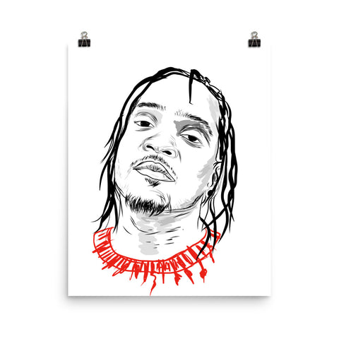 Pusha T Art Poster (8x10 to 24x36)