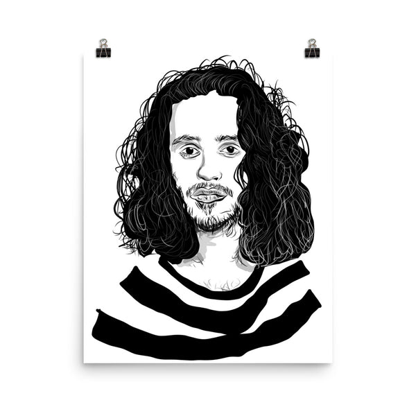 Russ Art Poster (6 sizes) // Babes & Gents // www.babesngents.com