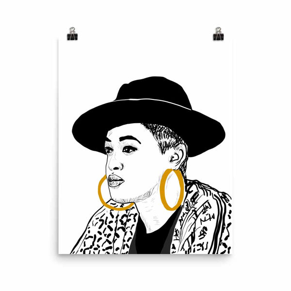 Rapsody Art Poster (6 sizes) // Babes & Gents // www.babesngents.com