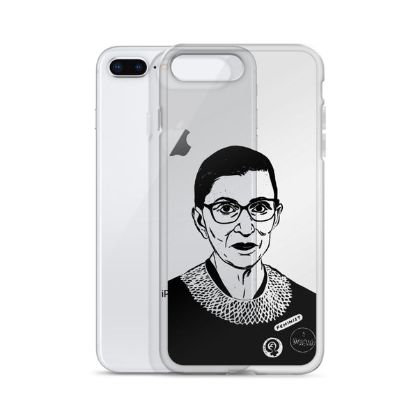 Rbg Ruth Bader Ginsburg iPhone Phone Case  // Babes & Gents // www.babesngents.com