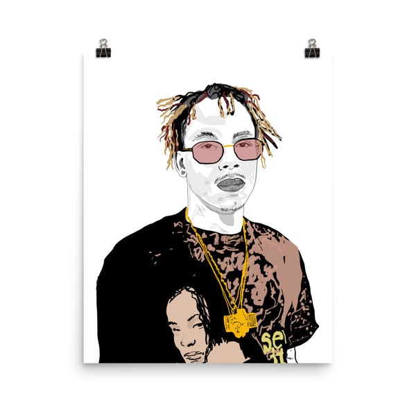 Rich the Kid Art Poster (6 sizes) // Babes & Gents // www.babesngents.com