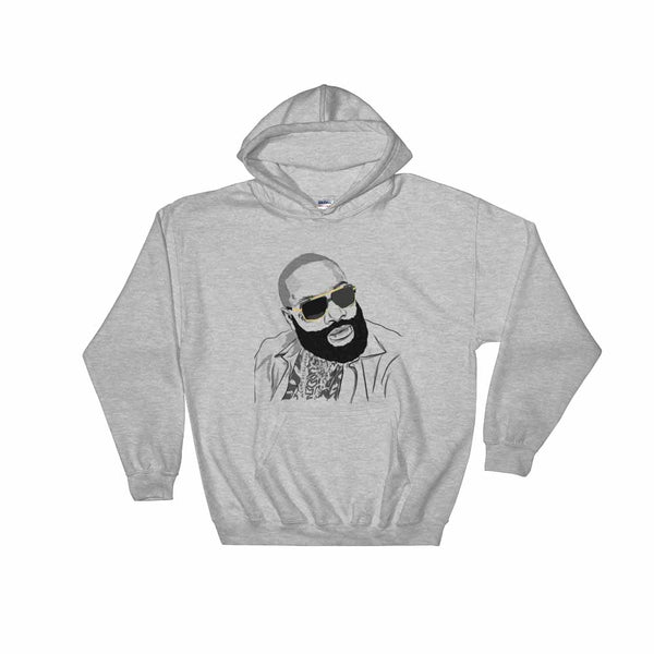 Rick Ross Grey Hoodie Sweater (Unisex) , Babes & Gents, Ottawa