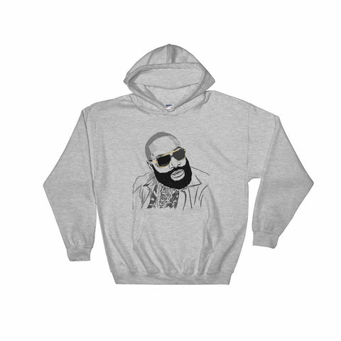 Rick Ross Grey Hoodie Sweater (Unisex)