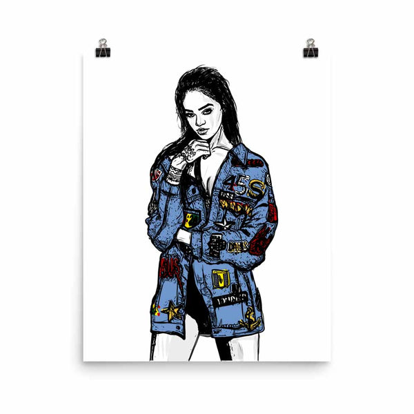 Rihanna Blue Art Poster (6 sizes) // Babes & Gents // www.babesngents.com