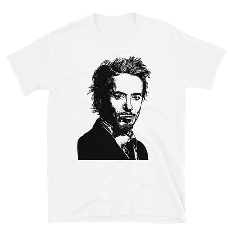 Robert Downey, Jr. Robert Downey Jr White Tee (Unisex)