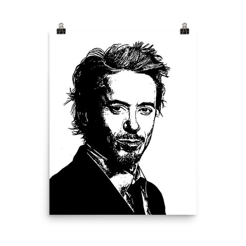 Robert Downey, Jr. Robert Downey Jr Art Poster (8x10 to 24x36)